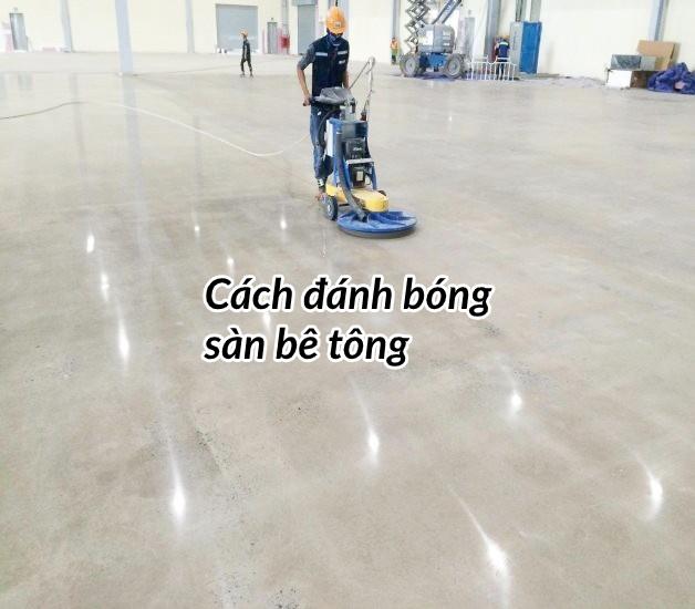 Cách đánh bóng sàn bê tông